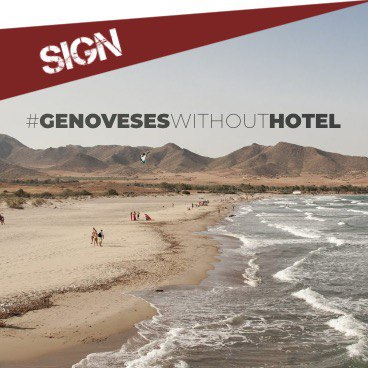 SIGNATURE: NO TO THE HOTEL IN LOS GENOVESES BEACH
