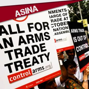 ASINA: CONTRA A VENDA DE ARMAS