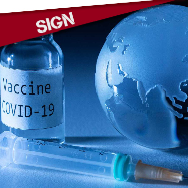 SIGN: NO TO VACCINE PATENTS FOR COVID