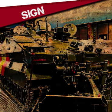 SIGN:AGAINST THE SALE OF ARMS FROM SPAIN