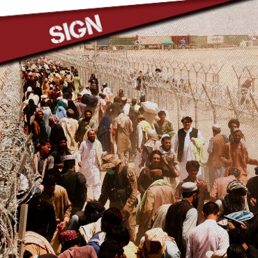 SIGN: FOR THE OPENING OF BORDERS IN AFGHANISTAN
